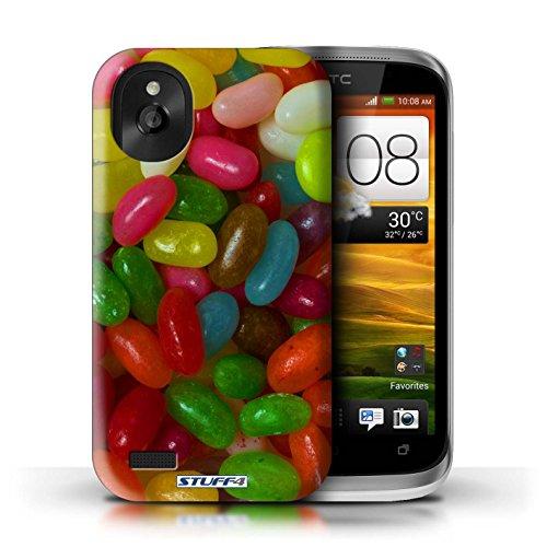 Kobalt® Imprimé Etui / Coque pour HTC Desire X / Smarties conception / Série Bonbons Jelly Beans