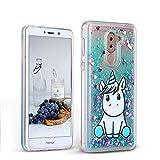 CaseLover Huawei Honor 6X Hülle, Transparent Soft TPU Einhorn Muster Handyhülle für Huawei Honor 6X 5,5