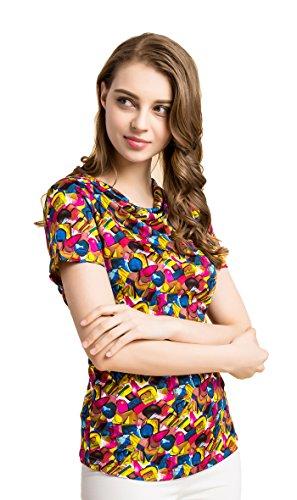 ... Tulpen Damen Seide Kurzarm T-Shirt Unterhemd Stoffdruck Oberteil Knit  Fabric FK ...