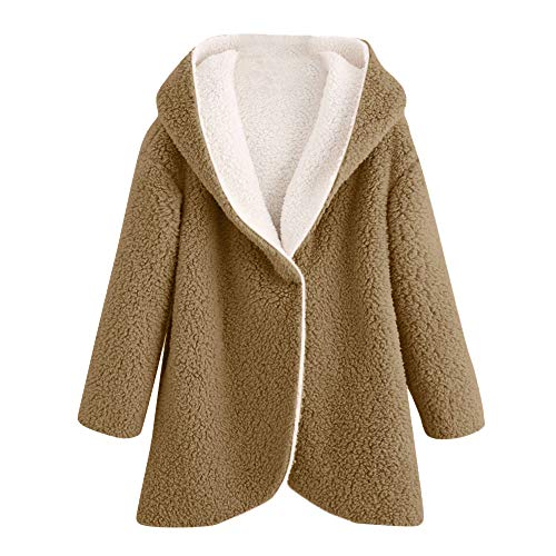 Quaan Damen Strickjacke Outwear, Winter Gebogen Saum Lange -