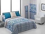 Quilt & CO Nelas - Juego de funda nórdica para cama de 180 cm, 270 x 220 cm, color azul