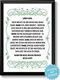 DANKE FÜR ALLES - Bild Danksagung für Deinen Papa Vater – Rahmen optional – Geschenk Geschenkidee Geburtstag Hochzeitstag Vatertag