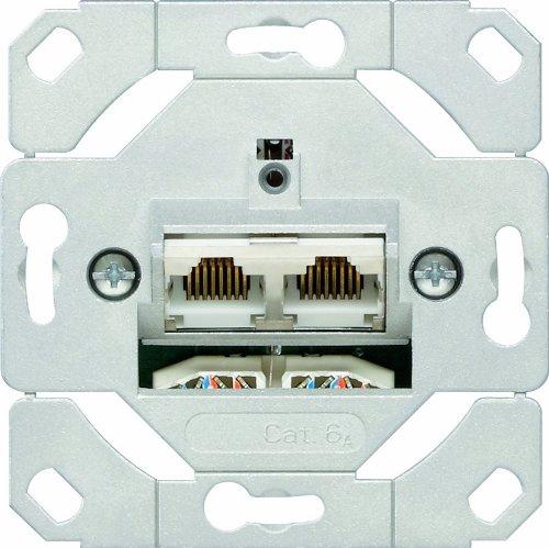Gira 245200 Netzwerkdose 2-fach Cat.6A IEEE 802.3an Unterputz Einsatz
