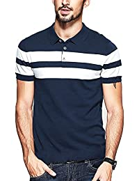 Seven Rocks Striped Polo T-shirt For Men