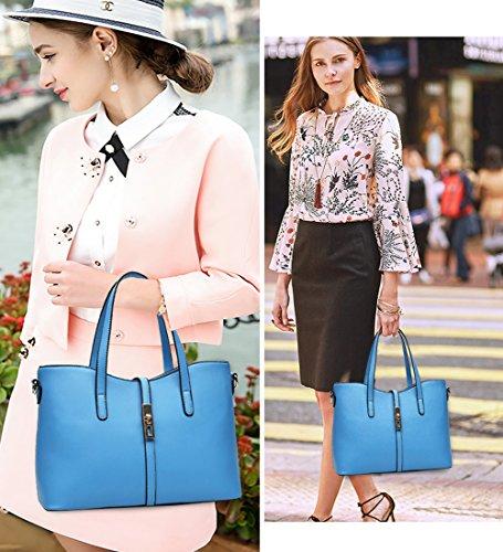 (G-AVERIL)Le donne annata della borsa del cuoio del sacchetto di spalla del Tote della cartella Hobo Set rosa
