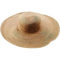Yesmile Sombrero Sombrero de Playa Color Liso para Mujer Sombrero de Paja de ala Grande Sombrero Sun Floppy Sombreros de ala Ancha Gorra de Playa