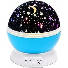 USB Rotating LED Star Sky Proyector lámpara de humor / luz decorativa para bebé Nursery / Decoración, azul por Yeelan