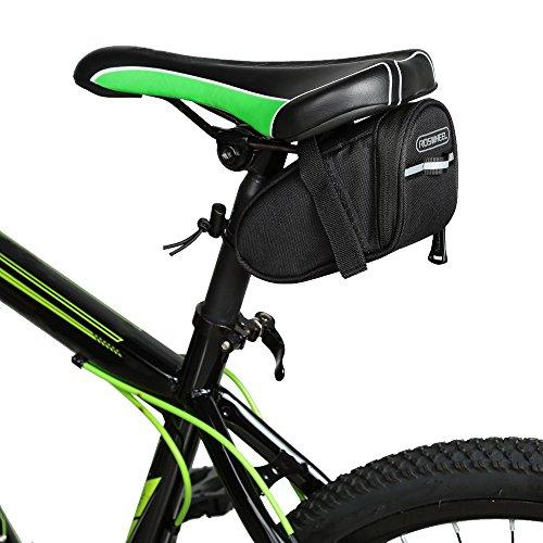 Docooler Fahrrad Sattel Tasche Rücksitz Schwanz Pouch Paket, Material: 600D Polyester, Einzelteilgröße: Ca. 17 * 8 * 7cm