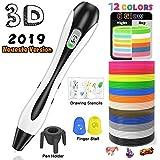 3D Stifte, für Kinder Erwachsene Anfänger mit PLA Filament 12 Farben -【Neueste Version 2019】Lovebay 3d pen Starter Set als kreatives Geschenk, Bastler zu 3D kritzeleien, malen, basteln und drücken