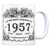 trendaffe - 1957 der Beste Jahrgang Kaffeebecher - EIN tolles Geschenk zum Geburtstag für Wein Liebhaber und alle die im Jahr 1957 geboren sind.