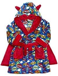Niño Cómic De Superhéroes Estampado Bata Con Capucha con capa tallas desde 2 a 6 Años