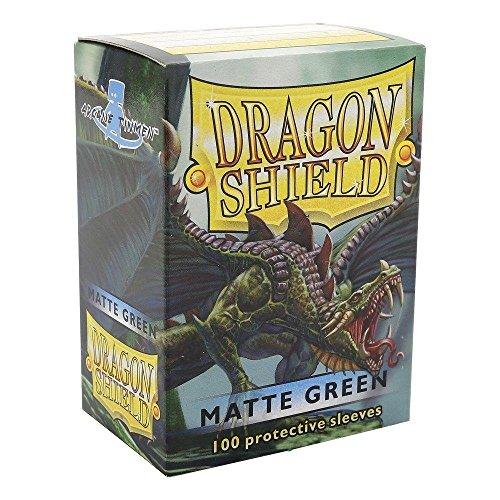 Arcane Tinmen AT-11004 - Sammelkartenspielzubehör - Dragon Shield Standard Kartenhüllen, 100 Stück, grün matt (Dragon Shield Sleeves Green)