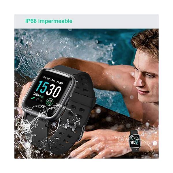 YAMAY Smartwatch, Impermeable Reloj Inteligente con Cronómetro, Pulsera Actividad Inteligente para Deporte, Reloj de… 3