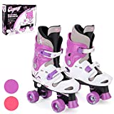 Osprey Kids Roller Skates, Adjustable Roller Skates Girls, Quad Skate Design Purple Medium/13-3 UK Child