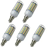 Aoxdi 5x E14 LED Energiesparlampe Leuchtmittel Birne 8W, Warmweiß, E14 LED Mais Lampe, 56 SMD 5730 LED, AC220-240V