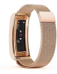 Mira la banda,Pulsera Huawei Glory Wristband 3 Pulseras Smart Watch Healthy Pulsera,Nueva luz de moda pulsera correa de reloj correa de reloj inteligente Xinan Correa (Oro rosa)