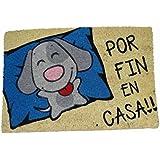 koko doormats felpudos Entrada casa Originales, Fibra de Coco y PVC, Felpudo Exterior Perro por Fin EN CASA!!, 40x60x1.5 cm |
