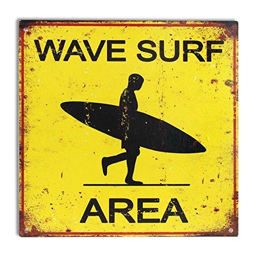 Placa en forma de cuadrada con el típico surfista perfecta para decorar el hogar de los amantes del Surf. Colección: Surf Spirit. Material: Metal. Medidas: 30 x 30 x 0.1 cm. Encuentra en Caprilo todas nuestras novedades en la sección Surf Spirit dond...