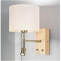 LIYAN lámpara de pared Aplique de pared Base E26/27Lámpara de pared lámparas de lectura LED dormitorio Salón creativa contemporánea minimalista europea apliques de madera escandinava, single, blanco