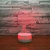 3D Lampara Led Luz Ilusión óptica Botón táctil color o 7 colores cambiar gradualmente Decoración del dormitorio del bebé regalo del día de San Valentín sueño asistido albero