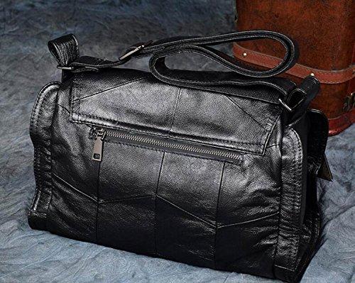 Borse A Tracolla Delle Donne Retro Mucca Delle Signore Di Grandi Dimensioni Ladies Acquisti Borsa Casuale Lady Business Travel Bag Black