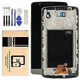 srjtek LCD-Display Ersatz für LG Optimus G3 D850 D851 D855 VS985 LS990, Touchscreen-Vollmontage, Rahmen, Ersatzteile, professionelle Werkzeuge im Lieferumfang enthalten (schwarz)