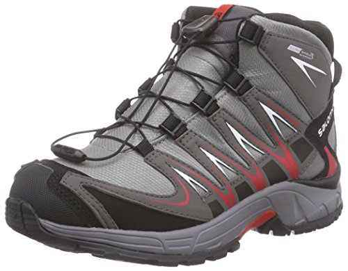 Salomon XA PRO 3D Mid J, Bottines de randonnée mixte enfant gris (Gris (Pewter / Autobahn / Red))