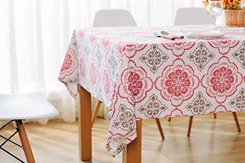 Moderne Simple Rectangulaire Coton Lin Lavable Nappe À Manger Table Tissu pour Accueil Un Hôtel Café Restaurant LAD-I , 100*140cm