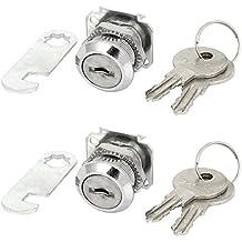 Deur kast lade Veiligheid Cilinder Cam Lock Camlock w 2 stuks 4 Keys