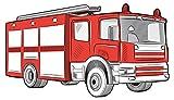 Wandtattoo Kinderzimmer Feuerwehr Auto rot weiß Wandsticker Feuerwehrmann Deko für Wandtattoo Kinderzimmer Feuerwehr Auto rot weiß Wandsticker Feuerwehrmann Deko