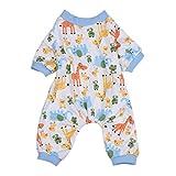 Alcyonée mignon Dessin animé éléphant Girafe Chien Pyjama combinaison en coton doux pour animal domestique Vêtements