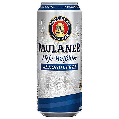 Paulaner Hefeweißbier Alkoholfrei, 24er Pack, (24 x 500 ml Dosen)