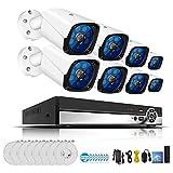 Mengen88 5MP H. 265 Full HD Home sans Fil CCTV caméra système vidéo Surveillance Kit système NVR WiFi système de caméra de sécurité avec Disque Dur de 2TB (2/4/6/8 CH),8CH