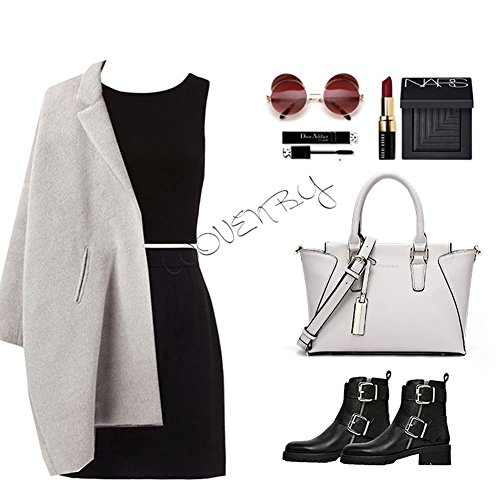 Borse Yoome Wings Top Handle Bags Borse in pelle Borse per Borse Bulk Ladies Portafoglio Casual Borse - Bianco Nero