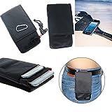 K-S-Trade Gürteltasche Caterpillar Cat S41 Brusttasche Brustbeutel Schutz Hülle Smartphone Case Handy schwarz Travel Bag Travel-Case vertikal