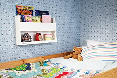 Tidy Books - The Children's Bookcase Company - The Original Wooden Bunk Bed Shelf and Bedside Storage for Childrens Rooms in White