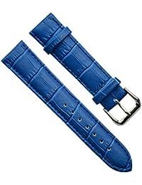 18mm de hombre Vintage Regular de piel de tuerca de plata hebilla correa para reloj/reloj banda