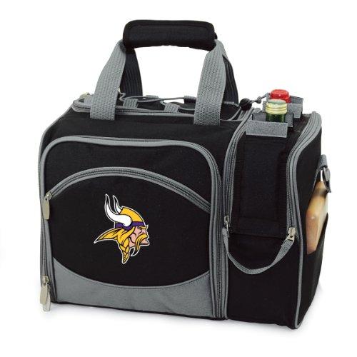 NFL Minnesota Vikings Malibu Isolierte Schultertasche mit Deluxe Picknick-Service für Zwei Personen -