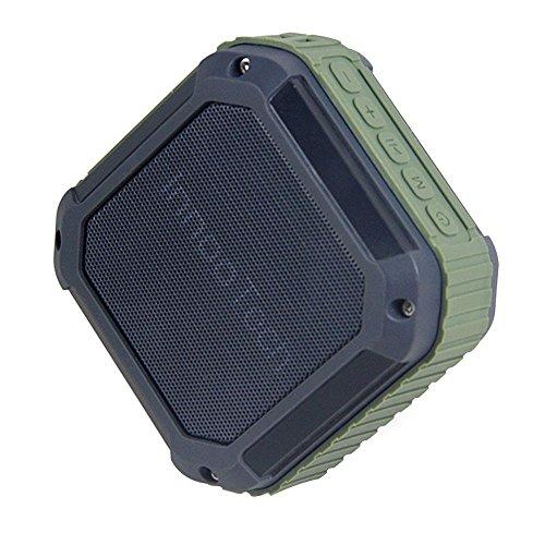 Innoo Tech Outdoor Wasserdichte Grüne Bluetooth Lautsprecher mit TF Karte, Bluetooth Box, 20m Reichweite, musikbox, Staubdichte Kabelloser Lautsprecher Boxen Bluetooth für iPhone, Samsung usw aps