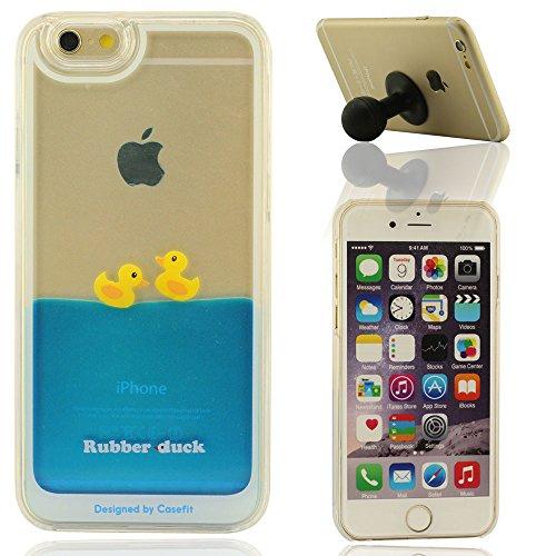 Schön Blau Flüssigkeit Hülle für IPhone 6 Plus, iPhone 6S Plus Hülle + Silikon-Gel-Haltewinkel, Rubber Duck Series B