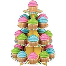 Wilton 1512-0726 - Soporte para 25 cupcakes, rueda de colores, 4 alturas