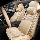 Housse de siège de voiture d'été ensemble en cuir/glace soie Super respirant luxe...