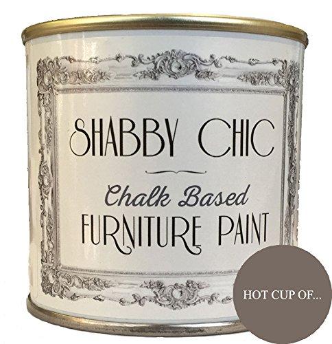 Shabby Chic Furniture Paint - Vernice a gesso per mobili, colore: tazza calda di..., 125 ml