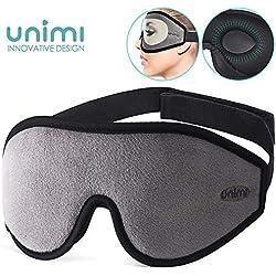 Masque de sommeil pour femme et home, Masque pour les yeux profilé 3D amélioré Unimi pour dormir, Masque pour les yeux respirant ultra-doux en mousse à mémoire, 100% d'obscurcissement pour les yeux.