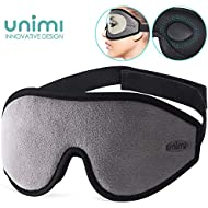 Sleep Mask for Women & Men, Unimi Upgraded 3D Contoured Eye Mask for Sleeping, Ultra Soft Breathable Sleeping Eye Mask, 100% Blackout Eye Shades Blindfold for Complete Darkness