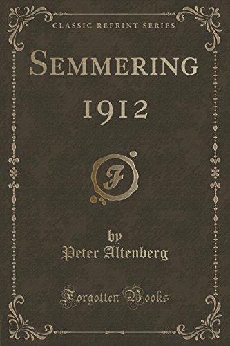 """Semmering 1912"" (Classic Reprint)"