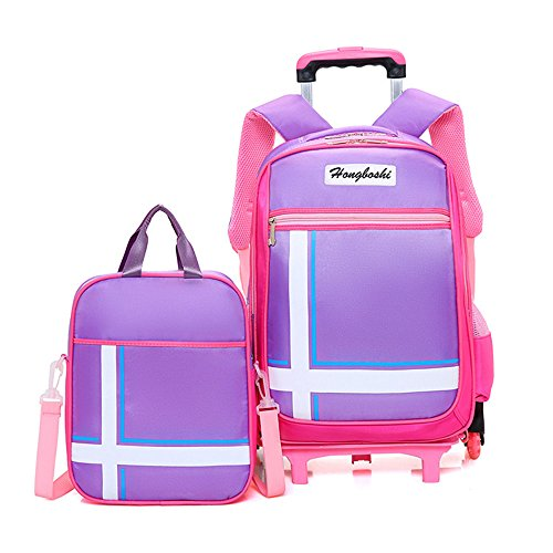 Rolling Backpack Asdomo Wheeled Luggage With Small Book Bags Six Wheels Waterproof Trolley Schoolbag For Boys Girls Kids Teenagers Students