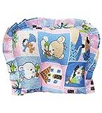 Wonderkids Teddy Print Baby Cotton Pillow - Blue