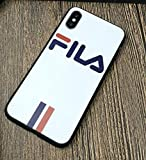 JB - Shop Coque iPhone 6 / 6S Blanche FILA Sport Streawear Logo Traits Blanc et Rouge...
