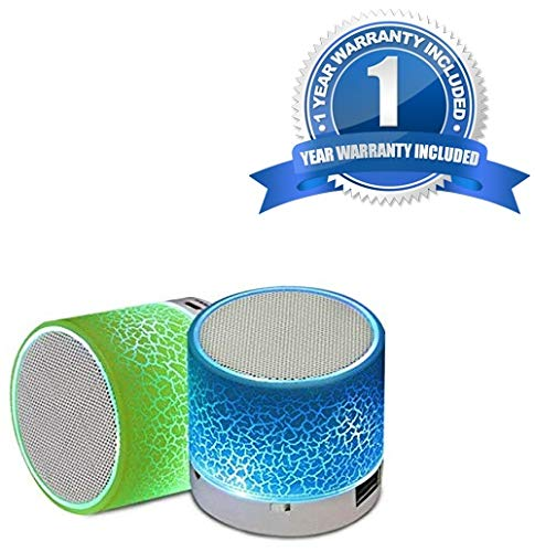 Shaarq Smart LED Light Crack Mini Wireless Blue-Tooth Speaker Portable Blue-Tooth Stereo Speaker Support TF Card/USB Flash Drive/FM